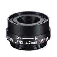"4.2mm 1 Megapixel Fixed Iris F1.8 1/3"" CS Mount Lens"