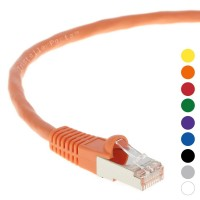 0.5Ft CAT 6 Shielded (SSTP) Patch Cable Molded Orange -- Professional Series -- 50 Micron Gold Plated RJ45 Connectors -- Ethernet Data Network