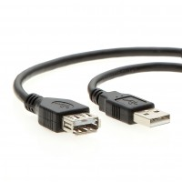 "7"" A Male/Female USB2.0 Cable"