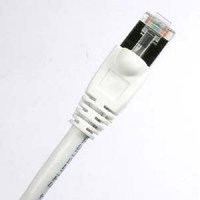 1Ft Cat.6A Shielded Patch Cable Molded White