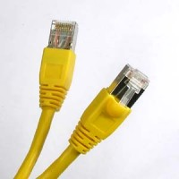 30Ft Cat.6A Shielded Patch Cable Molded Yellow