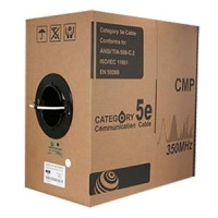 1000Ft Cat.5E Solid Cable Plenum White, UL/ETL/CSA