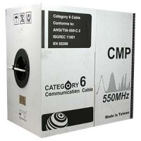 1000Ft Cat.6 Solid Cable Plenum (CMP) White