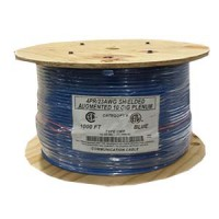 1000Ft Cat.6 A Shielded Cable Plenum Blue