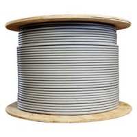 1000Ft Cat.6 23AWG Solid Wire Shielded (FTP) Gray