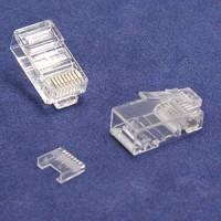 RJ45 Cat.5E Plug Solid 3Prong 50 Micron w/Inserter 100pk