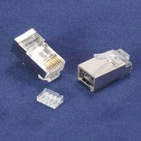 InstallerParts RJ45 Cat 6 Shielded Plug Stranded 50 Micron w/Inserter 100pk