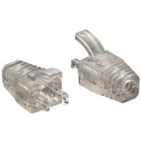 InstallerParts Strain Relief Boot for Cat 6 Shielded RJ45 Clear 100pack