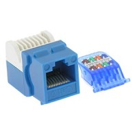 InstallerParts Cat 6 Tool Less Keystone Jack Blue