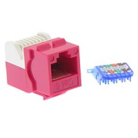 InstallerParts Cat 6 Tool Less Keystone Jack Red