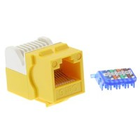InstallerParts Cat 6 Tool Less Keystone Jack Yellow