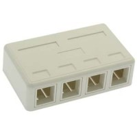 4 Port RJ45 Surface Mount Box White (Box Only)