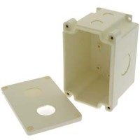 InstallerParts 2-Port Industrial Watertight Surfacemount Box for Bulkhead RJ45 Jacks