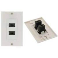 InstallerParts HDMI 2 Port Wall Plate