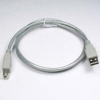 4Ft A-Male to B-Male USB2.0 Cable Silver