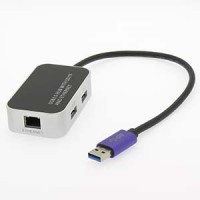 USB3.0 3-Port Hub with Ethernet SD/TF Reader