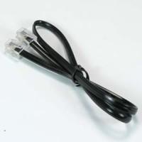 InstallerParts 18 Inch Phone Cord Straight w/RJ11 (6P4C) Plug, Black, UL