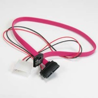 SATA 7-Pin to SATA 7+6-Pin Hard Disk Cable 16""