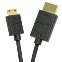 InstallerParts 10 Ft HDMI Male to Mini (C) RedMere Slim Cable 36AWG