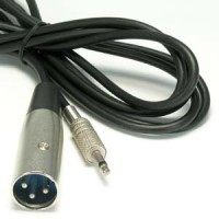 25Ft XLR Male to 3.5mmm Mono Male Cable