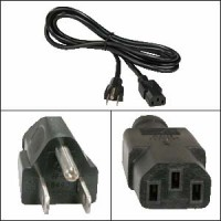 5Ft Computer Power Cord 5-15P to C-13 Black SVT 18/3
