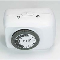 24 Hour Mechanical Pin Timer W/ Single Grounded Outlet