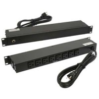 "Otimo 19"" Rackmount 8-Outlet PDU Metal Case 6 Ft Power Cord AC125V 12A UL"