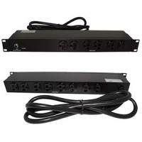"19"" 1U Rackmount 14-Outlet PDU Metal Case 6Ft Power Cord AC125V 20A (16A UL)"