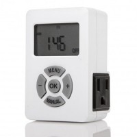 Otimo Weekly Digital Timer AM/PM  Display 3-Prong Plug