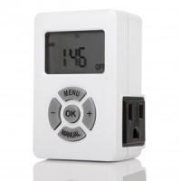 Otimo Weekly Digital Timer AM/PM  Display 3-Prong Plug