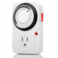 Otimo 120V Single Grounded Outlet Mechanical Timer 3-Prong  Plug