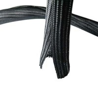"Self Closing Cable Sock Black 1"" (25.4mm) x 50Ft(15.24m )"