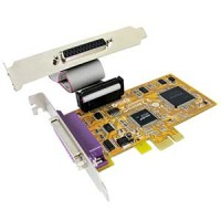 2 Port IEEE1284 Parallel Low-Profile PCI Express Card