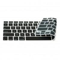 """Otimo Macbook Silicone Keyboard Cover -- TPU Mac Keyboard Skin Compatible w/ MacBook Pro 13"""" 15"""" 17"""" , iMac -- Black"""
