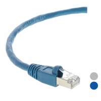 50Ft Cat.6A Shielded Patch Cable Molded Blue