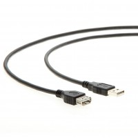 3Ft A-Male to A-Female USB2.0 Extension Cable Black