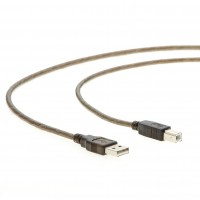 6Ft A-Male to B-Male USB2.0 Cable Clear Black