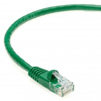 1 FT Ethernet Cable CAT5E Cable UTP Booted - Green - Professional Series - 1Gigabit/Sec Network / Internet Cable, 350MHZ