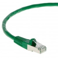 0.5Ft CAT 5E Shielded Patch Cable Molded Green -- Professional Series -- 50 Micron Gold Plated RJ45 Connectors -- Ethernet Data Network