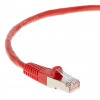 0.5Ft CAT 6 Shielded (SSTP) Patch Cable Molded Red -- Professional Series -- 50 Micron Gold Plated RJ45 Connectors -- Ethernet Data Network