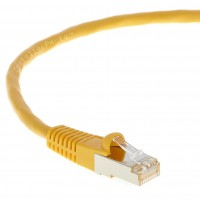 0.5Ft CAT 6 Shielded (SSTP) Patch Cable Molded Yellow -- Professional Series -- 50 Micron Gold Plated RJ45 Connectors -- Ethernet Data Network
