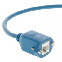 InstallerParts 1 Ft Panel-Mount Cat 5E Ethernet Cable Blue