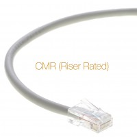 0.5 Ft Cat.5E CMR Non-Boot Patch Cable Gray