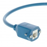 InstallerParts 1 Ft Panel-Mount Cat 6 Ethernet Cable Blue