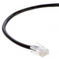 0.5 FT Ethernet Cable CAT5E Cable UTP Non-Booted - Black - Professional Series - 1Gigabit/Sec Network / Internet Cable, 350MHZ