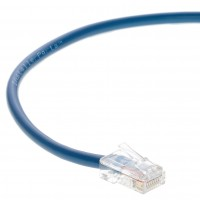 0.5 FT Ethernet Cable CAT5E Cable UTP Non-Booted - Blue - Professional Series - 1Gigabit/Sec Network / Internet Cable, 350MHZ