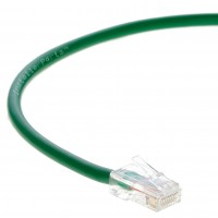 0.5 FT Ethernet Cable CAT5E Cable UTP Non-Booted - Green - Professional Series - 1Gigabit/Sec Network / Internet Cable, 350MHZ
