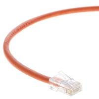 1 FT Ethernet Cable CAT5E Cable UTP Non-Booted - Orange - Professional Series - 1Gigabit/Sec Network / Internet Cable, 350MHZ