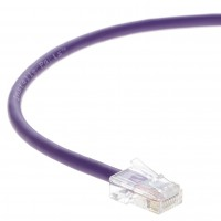 0.5 FT Ethernet Cable CAT5E Cable UTP Non-Booted - Purple - Professional Series - 1Gigabit/Sec Network / Internet Cable, 350MHZ