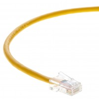 0.5 FT Ethernet Cable CAT5E Cable UTP Non-Booted - Yellow - Professional Series - 1Gigabit/Sec Network / Internet Cable, 350MHZ